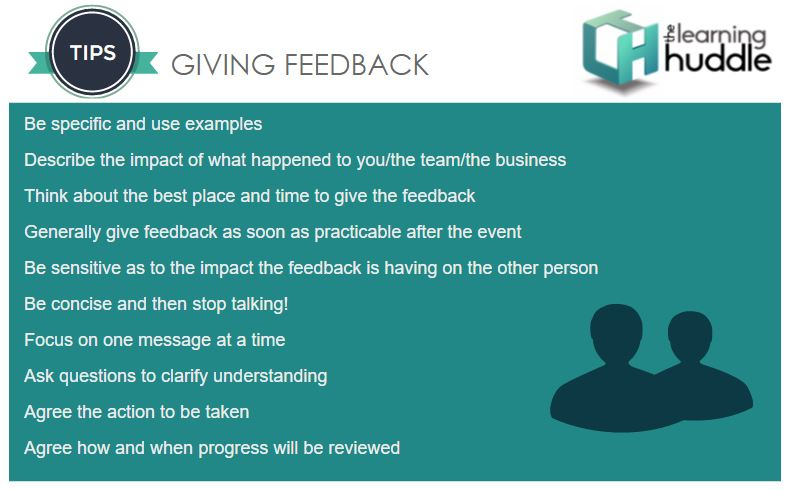 Get to grips with giving feedback